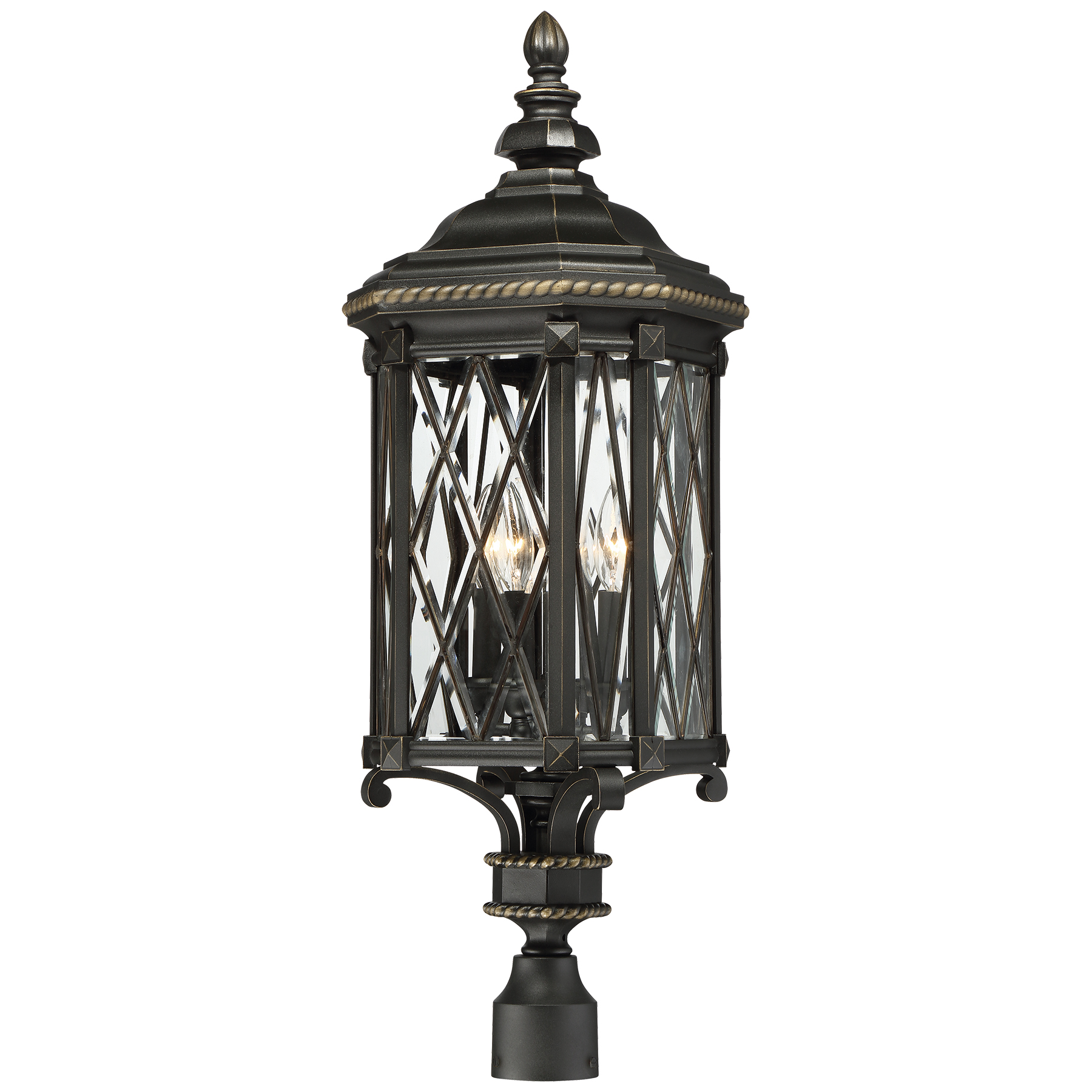 Minka group brands the great outdoorsreg 9326 585 bexley manor 4 light outdoor post mount aloadofball Images