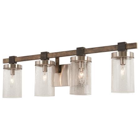 Minka Group BRANDS MinkaLaveryreg - 4 light bathroom fixture brushed nickel
